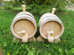 Set of Oak barrels 2X3L