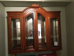 Beautiful Oak China Cabinet