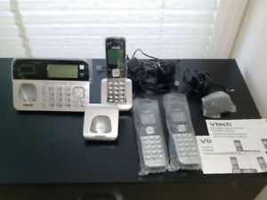 V-Tech Cordless Phone 3 Handset Answering System