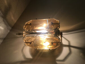 Wall sconce, brass and glass 4 available