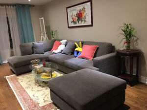 Bright master room for rent in downtown Ajax