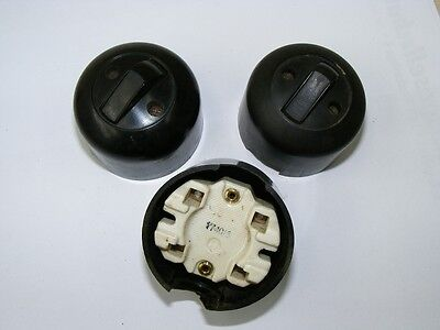 Old Bakelite Wall Light Switch Switch Ap Change-Over Switch Loft Design,