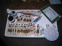 Artists Painting kit with 17 Jo Sonja's oil tubes