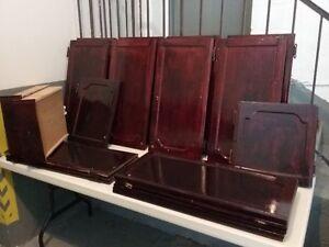 Portes d'armoires de cuisine en chêne. Oak kitchen cabinet doors