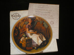 """""""A Young Girls Dream"""" collector plate."""