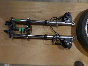36mm 1978 XS750 Standard forks complete with wheel/XS650 mod