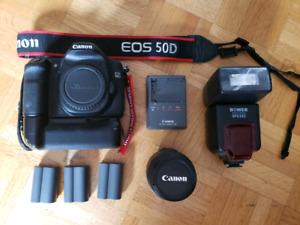 Canon 50D+lens+accessories