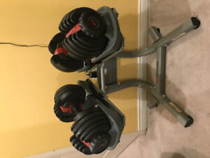 Bowflex Dumbbell and Bowflex dumbbell stand