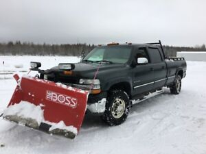 2002 Chevrolet Silverado 2500 Pickup Truck with Plow