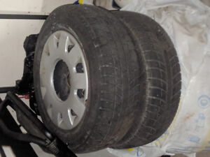 Michelin Winters tires and rims 15's x 4
