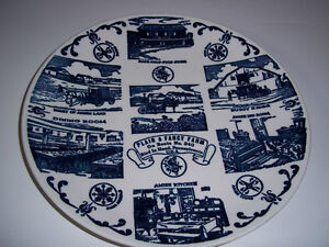 Blue & White Collector Plate from the Amish Plain & Fancy Farm
