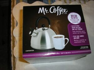 ***NEW*** MR COFFEE WHISTLING KETTLE