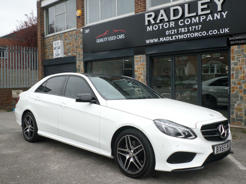 2015 mercedes benz e220 2 1cdi 177ps bluetec premium 7gtronic plus 201 amg white in sheldon. Black Bedroom Furniture Sets. Home Design Ideas