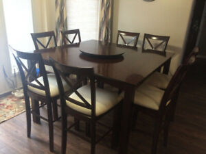 Bistro Style Dining Room Table with 8 chairs