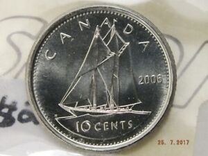 Ten Cent coin - 2006P - ICCS Graded Mint State 65