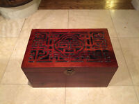 Wooden Stationery Chest/Trunk
