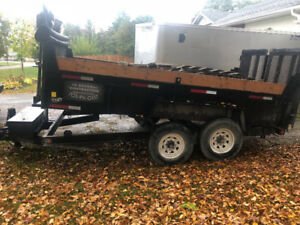 Miska 14' dump trailer