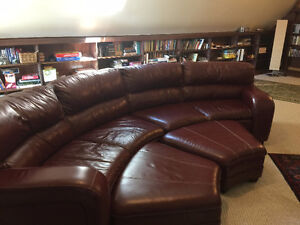 6-seater couch with 2 ottomans