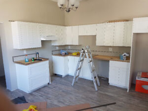 Just finishing construction of new apartment