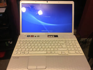 Sony vaio white laptop