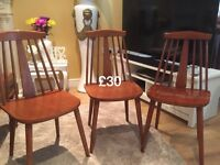 3 Ercol style chairs
