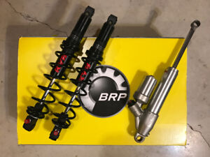 Ski-Doo X Package Clicker Shocks. Front and Rear