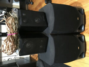4 Speakers (wires included)