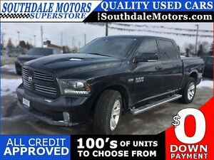 2014 RAM 1500 SPORT * 4WD * LEATHER * NAV * REAR CAM * SUNROOF *