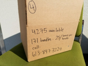 Brand new cardboard boxes in bundles of 25 -thousands available