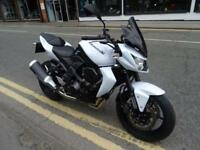 2013 KAWASAKI Z750 IN WHITE ONLY 4010 MILES