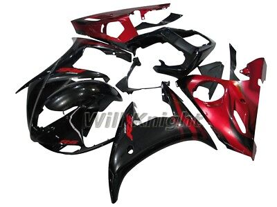 Injection Body Kit for Yamaha YZF600 YZF R6 2005 Black Red Fairing Kits ABS