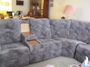 Sectional (blue and pink colour)