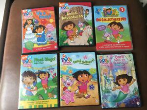 6 DVDs Dora