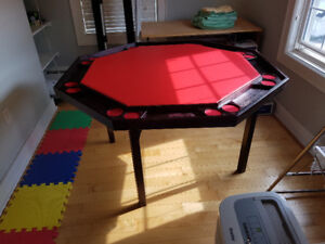 Folding card table.