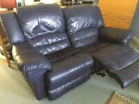 Reclining Leather Sofas (Two)