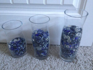 PARTYLITE GLASS DECORATIVE VASES