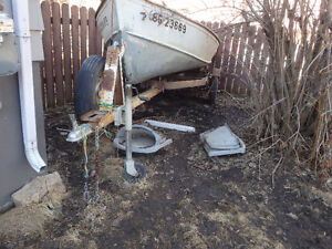 (SOLD)Trailer and boat ( NO motor) sell or trade