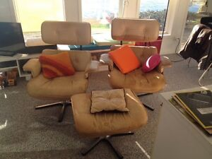 Replica Eames Chairs with 1 ottoman