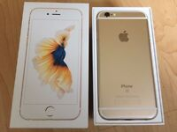 iPhone 6 s Rose Gold 32gb.On 02 network. In box. Two weeks old