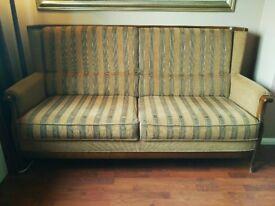 A lovely Vintage Danish 2 piece suite sofa / lounge chair
