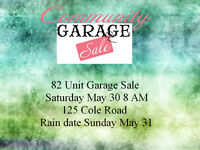 82 unit community garage sale