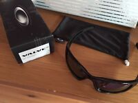 Oakley value polished black sunglasses.
