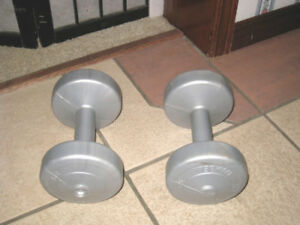 Pair (2) of Plastic 5 lbs each Dumbbells in great condition