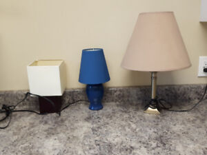 Assort of table lamps priced individual