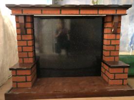 Free - wood and brick fire surround