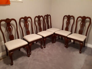 6 Dining chairs pure mahogany wood great shape
