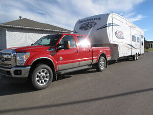 5th Wheel family trailer and  super duty Ford