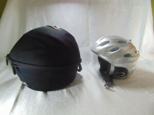 Giro Silver Bike Helmet with speakers and carrying case