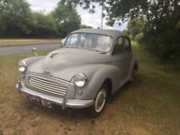 MORRIS MINOR SALOON. REG 1962. LOW MILES.