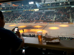 Oilers Tickets, LOWER DRINK RAIL W/ CLUB ACCESS. All Games